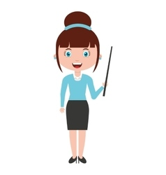 Woman female teacher character vector