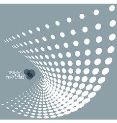 Metal grey dot background vector image