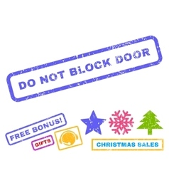 Do not block door rubber stamp vector