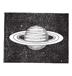 Saturn vintage engraving vector