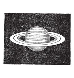 Saturn vintage engraving vector image