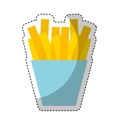 French fries isolated icon vector