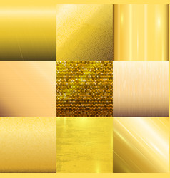 Golden texture pattern template vector