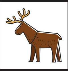 Canadian moose elk isolated canada vector