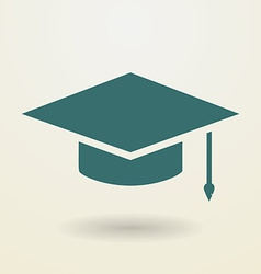 Simple graduation cap icon vector