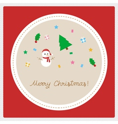 Merry christmas greeting card22 vector