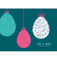Abstract colorful drops hanging easter eggs vector