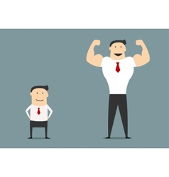 Cartoon small and big businessmen vector