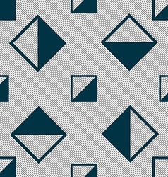 Contrast icon sign seamless pattern with geometric vector