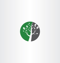 Circle tree icon logo element design vector