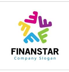 Finanstar abstract design vector