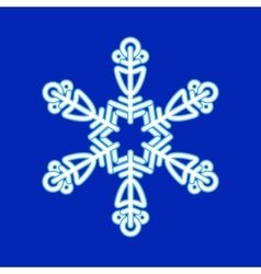 Snowflake christmas pattern vector