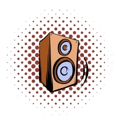 Music speaker icomics icon vector