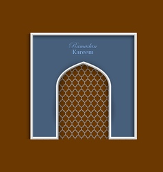 Ramadan kareem greeting card template variation 4 vector