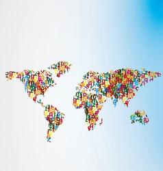 alfabet world map vector image