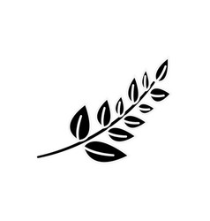 Black plant branch decoration design vector
