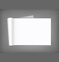 Blank magazine with rolled pages vector