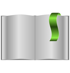 Book with bookmarks vector image