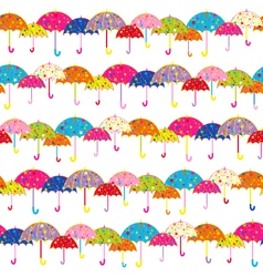Colorful Umbrella Seamless Pattern vector image vector image