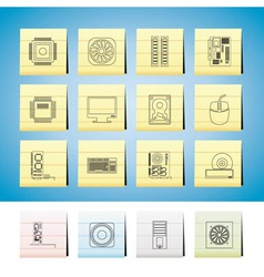 computer performance and equipment icons vector image