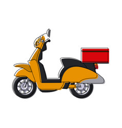 Delivery scooter logistics and delivery transport vector