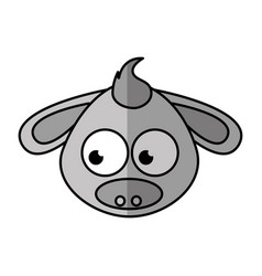 Donkey character isolated icon vector