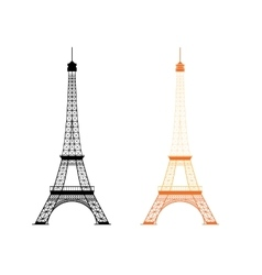 Eiffel tower - famous monument in paris france vector