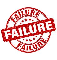 Failure red grunge stamp vector