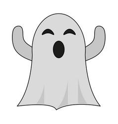 Ghost cartoon icon image vector