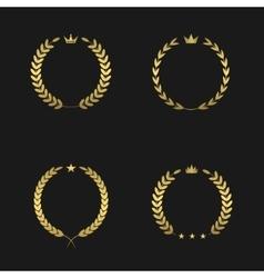 Golden wreath set vector image vector image