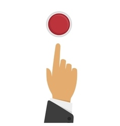 Hand presses the button vector image