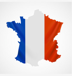 Hanging france flag in form of map french vector