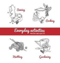 housework vector image