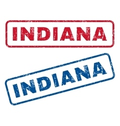 Indiana rubber stamps vector