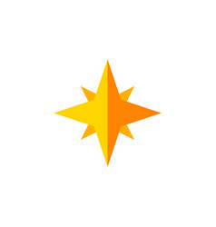 Isolated starlet flat icon asterisk vector