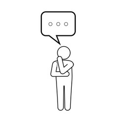 Man thinking icon vector