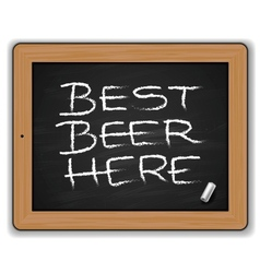 Menu - Beers on the blackboard vector image vector image
