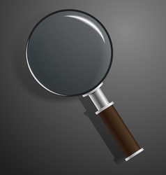 model of magnifier on black vector image vector image