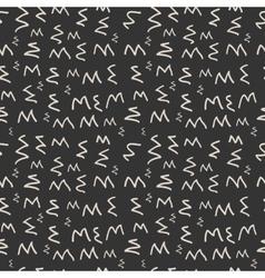 Modern seamless pattern of zigzag monochrome vector