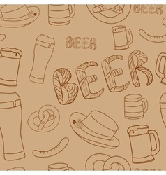 Oktoberfest seamless pattern Hand drawn vector image