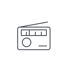 Radio receiver station thin line icon linear vector