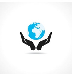 save earth concept vector image
