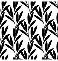 Seamless background with branch of a plant vector image vector image