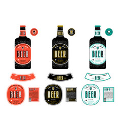 Set of templates labels for lager beer vector