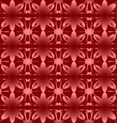 Shiny floral pattern seamless background red vector