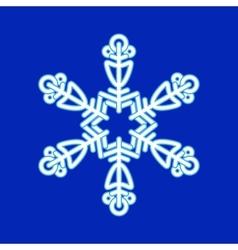 Snowflake Christmas pattern vector image vector image