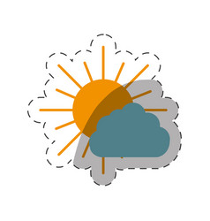 Sun and cloud weather vector