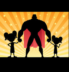 Super dad 2 daughters vector
