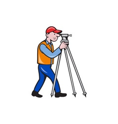 Surveyor Geodetic Engineer Theodolite Isolated vector image
