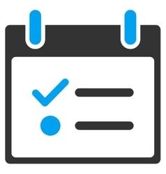 Todo list calendar day toolbar icon vector